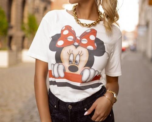 Bluzy i T-shirty z nadrukiem w stylu retro