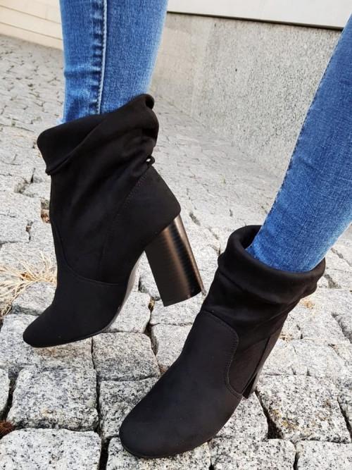 Buty BOTKI VERONA trendy BLACK