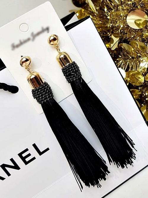 Kolczyki OLIMPIA BOHO BLACK glamour