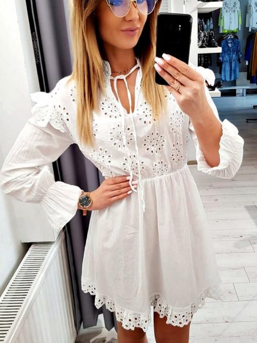 Sukienka BOHO QUENN white