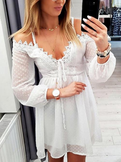 Sukienka VENICE BOHO Koronka WHITE