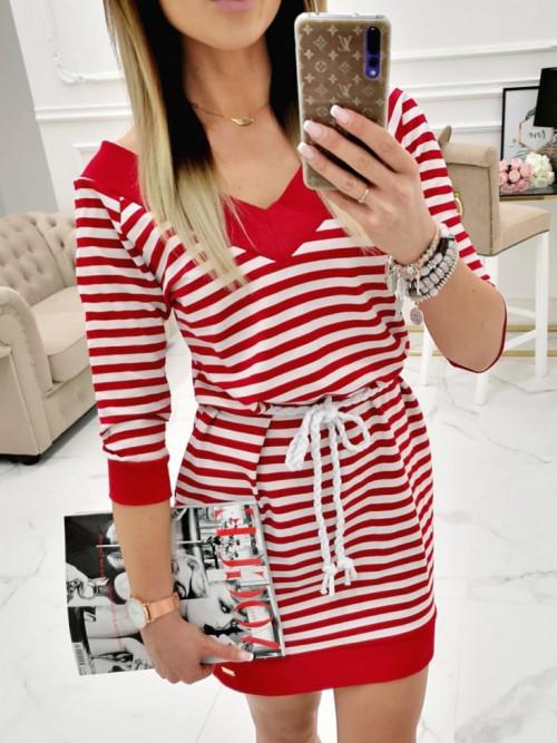 Sukienka LIFESTYLE MARINE V-neck CHILI