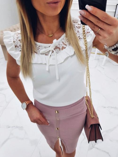 Bluzka San FELICE BOHO elegance WHITE