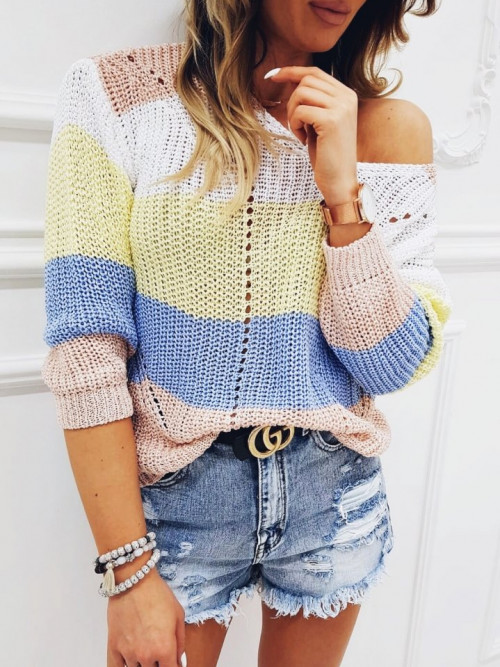 Sweter BELLUCIA SPRING pudrowy