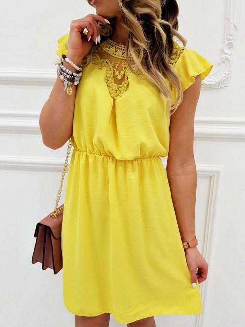 Sukienka MOTYLEK elegance YELLOW