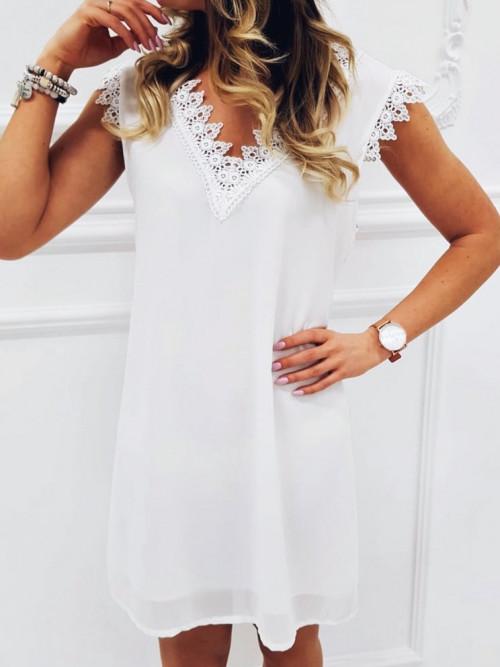 Sukienka QUEEN Minimalizm KORONKA white