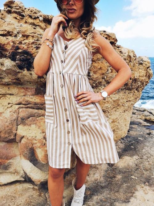 Sukienka BOHO MARINE Midi BEIGE