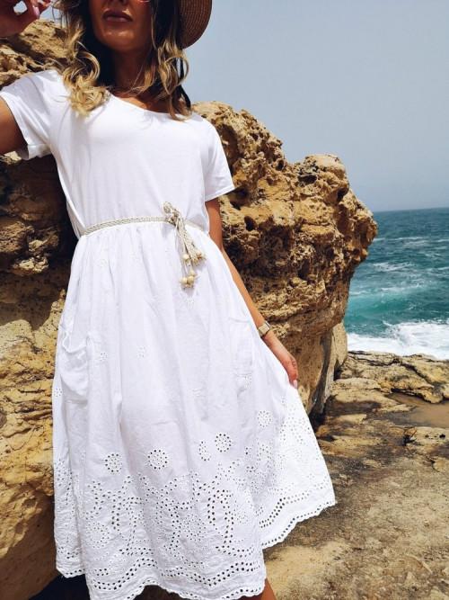 Sukienka SUNOVA BOHO AŻUR white