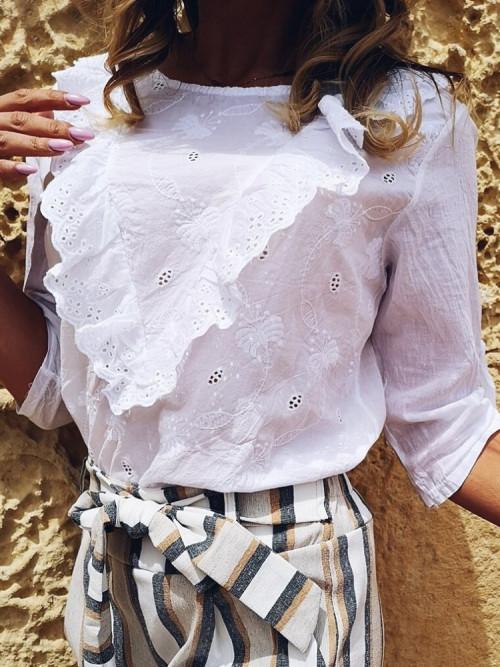 Koszula VALERIE BOHO Roll-up WHITE