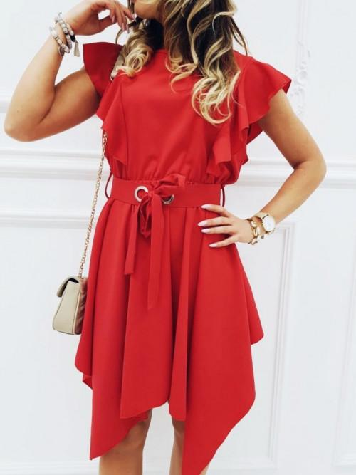 Sukienka JADORE ASYMETRYCZNA red