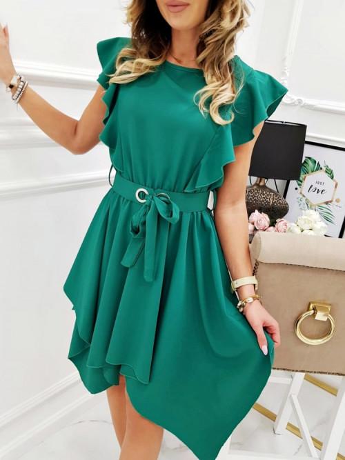 Sukienka JADORE ASYMETRYCZNA green