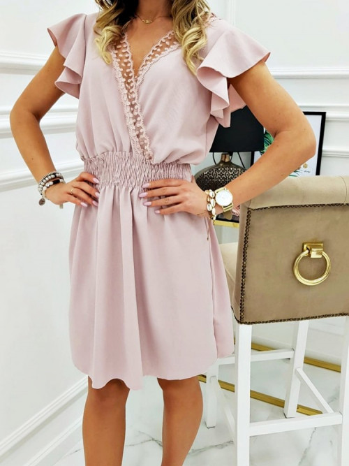 Sukienka BELLUCIA Koronka puder