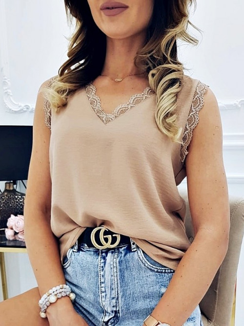 Bluzka MICAELLA Elegance CAMEL
