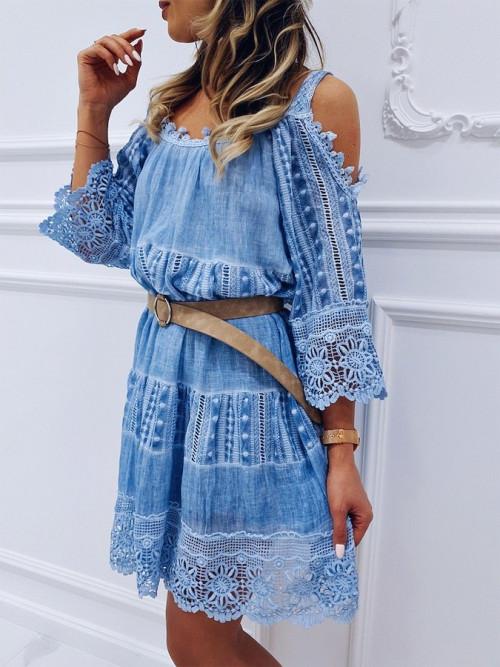 Sukienka ROCCA Boho OMBRE BLUE