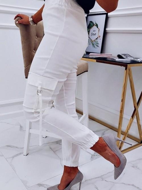 Spodnie JESSY PUMPY white