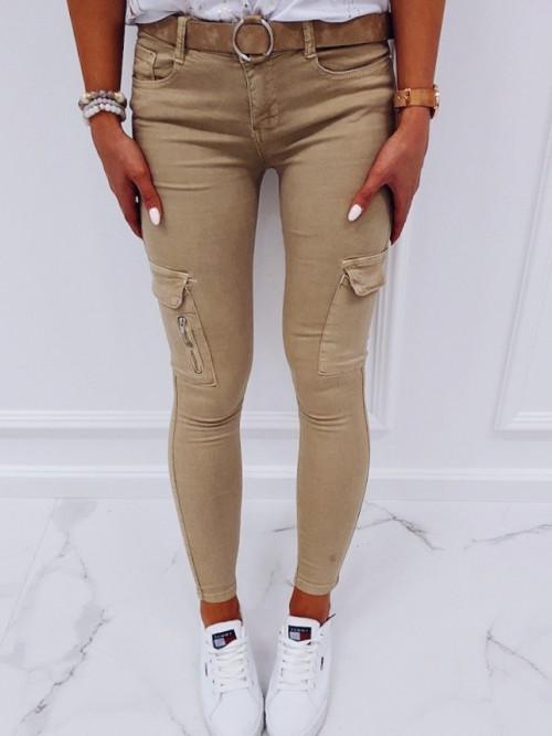 Spodnie BEIGE-NUDE LIFESTYLE Rurki