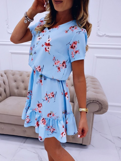 Sukienka CELIA FLOWERS Blue