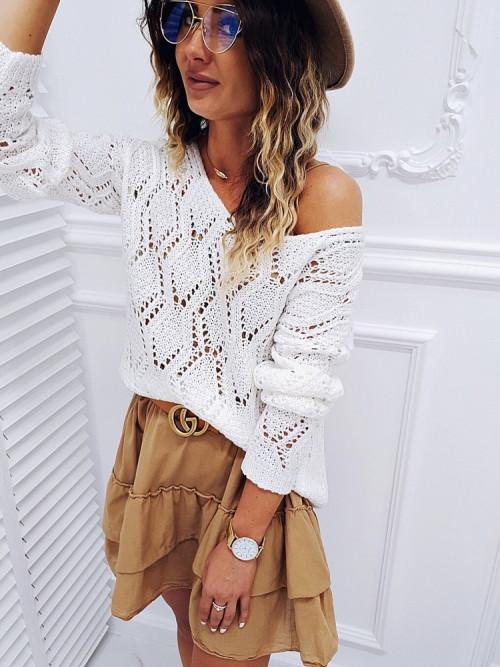 Sweter AŻUR FINNO beige