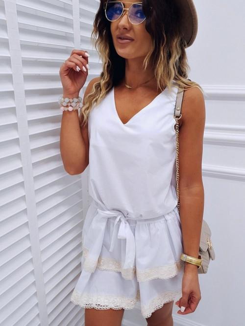 Sukienka INFINITY beige koronka