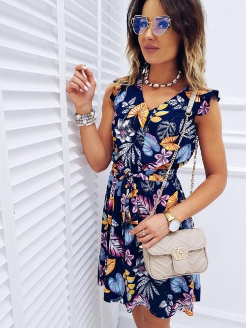 Sukienka COZZY FLOWERS MOTYLEK elegance