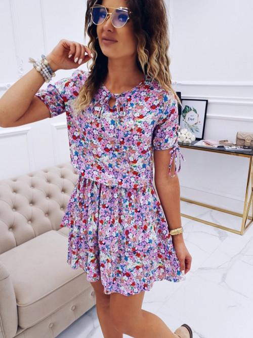 Sukienka OLDSCHOOL FLOWERS puder
