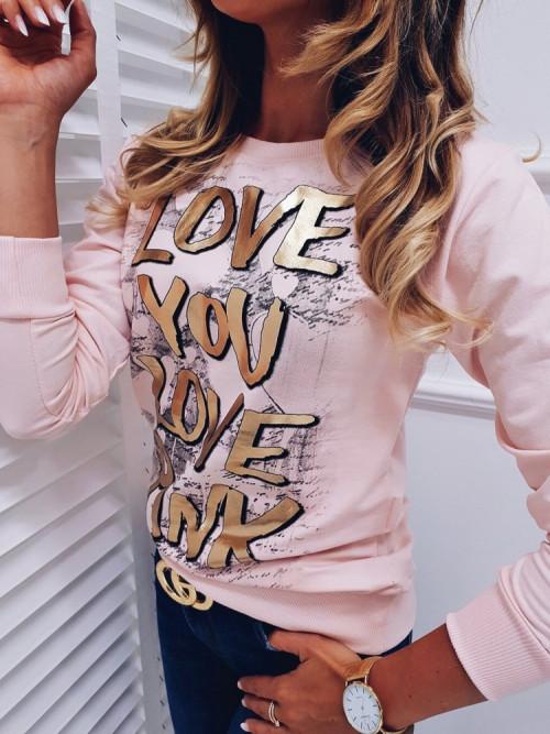 Bluza MICCO LOVE pudrowa