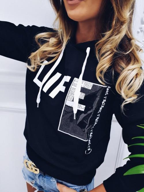 Bluza LIFE HOODIE stretwear