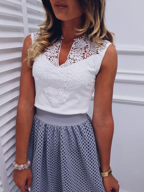 Bluzka PECCORINI Elegance WHITE