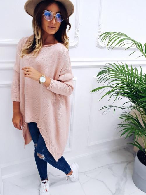 Sweter Luxury ASYMETRYCZNY puder