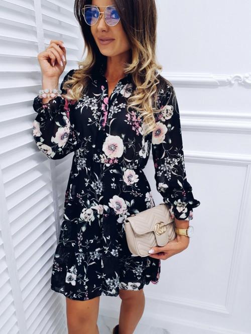 Sukienka CLARA FLOWERS black
