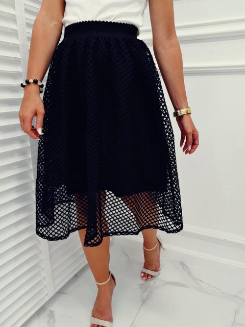 Spódnica CLARISSE Ażur black