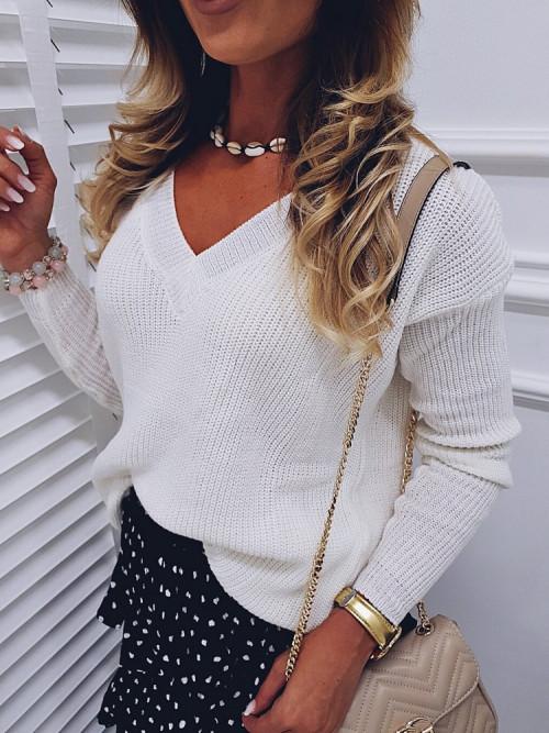 Sweter CREEM V-neck CLASSIC