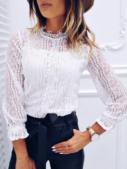 Bluzka MEDIOLAN Koronka elegance WHITE