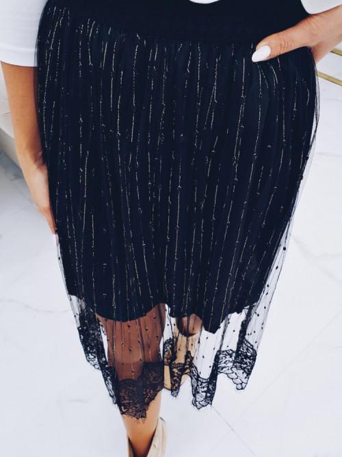 Spódnica BLACK GOLD koronka