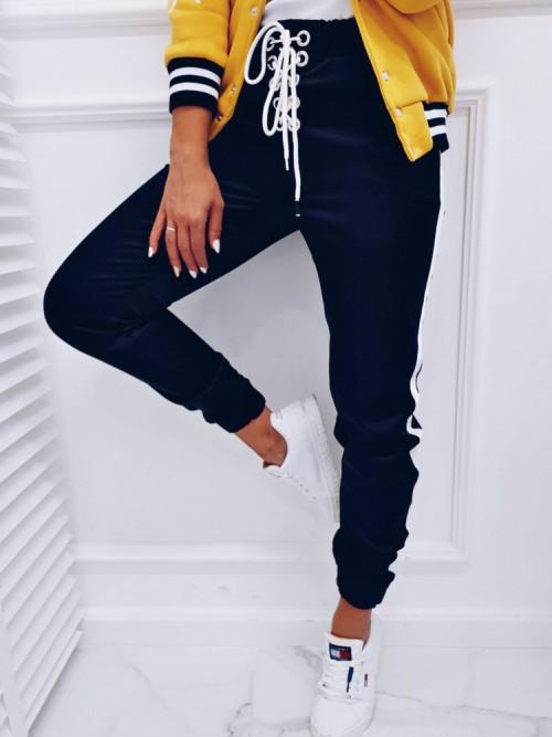 Spodnie CHARLOTTE SATYN black