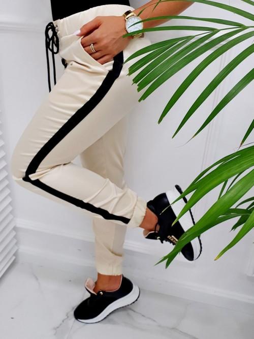 Spodnie CHARLOTTE SATYN beige