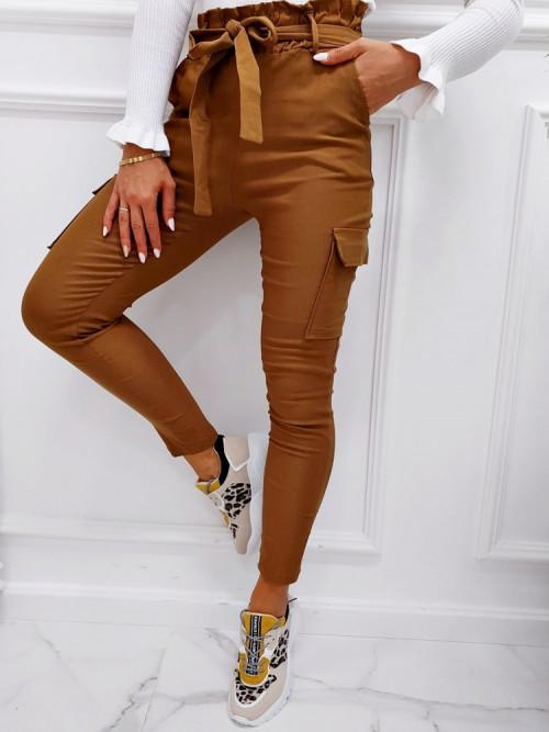 Spodnie JOLIN WYSOKI STAN camel