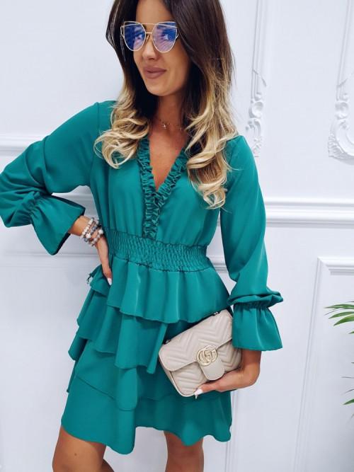 Sukienka LISSA RUBY butelkowa zieleń