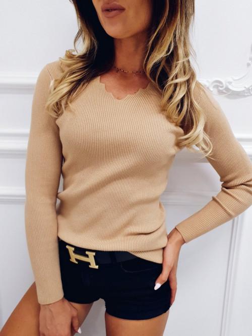 Sweterek CHARLOTTE ZIG V-neck