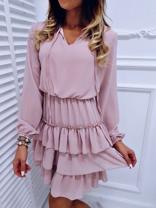 Sukienka VALENTINA CLASSIC pudrowa
