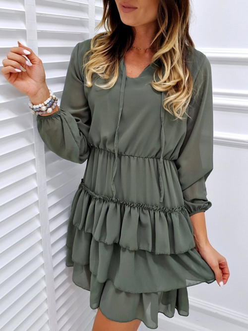 Sukienka VALENTINA CLASSIC khaki