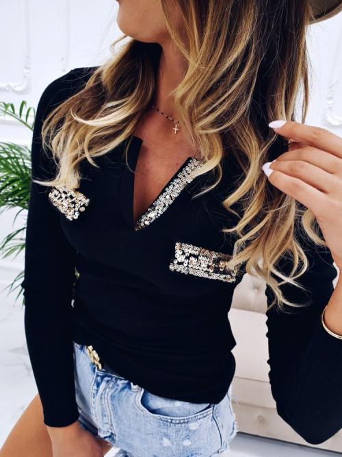 Bluza POCKET GOLD prążek