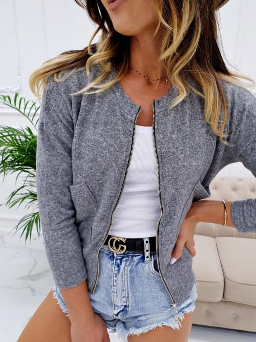 Sweterek VICETTO BOMBERKA zipper