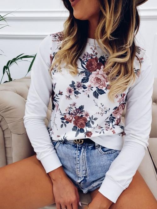 Bluza FLOWERS PUDER Lifestyle