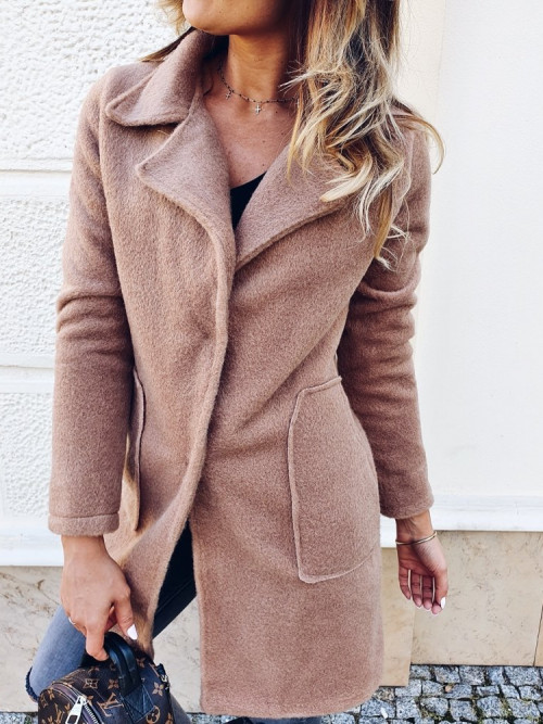 Płaszcz ALICE FLUFFY camel