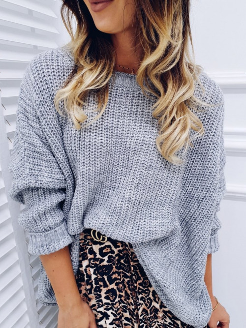 Sweter SOPHIE TRENDS Oversize GRAY
