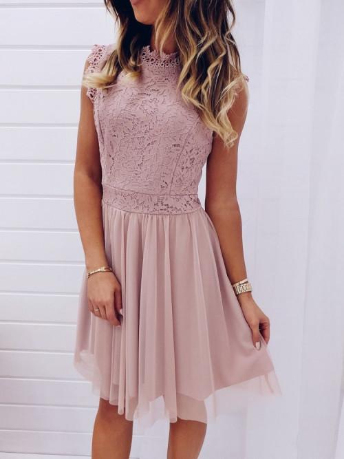 Sukienka ESTELLA Pretty PUDROWA