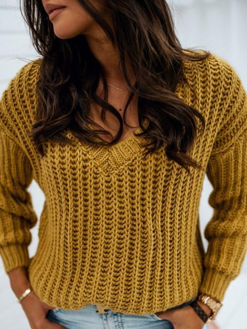 Sweter CASCO V-neck AUTUMN