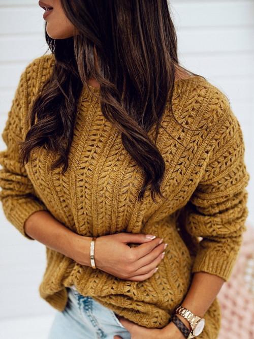 Sweter AŻURKOWY MILLIE autumn