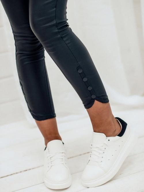 Spodnie WOSKOWANE SKINNY SNAPS black